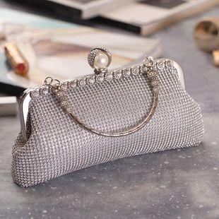 European and American fashion rhinestone small square bag NHYG146290's discount tags