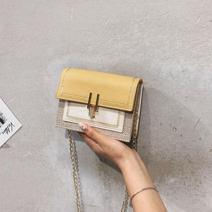 Fashion casual canvas crossbody small square bag NHTC146313's discount tags