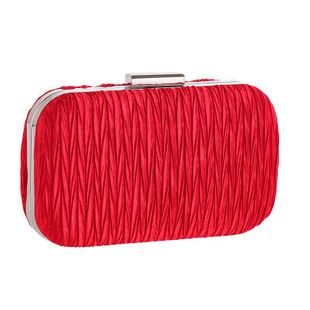 Simple pleated ladies clutch NHYG146451's discount tags