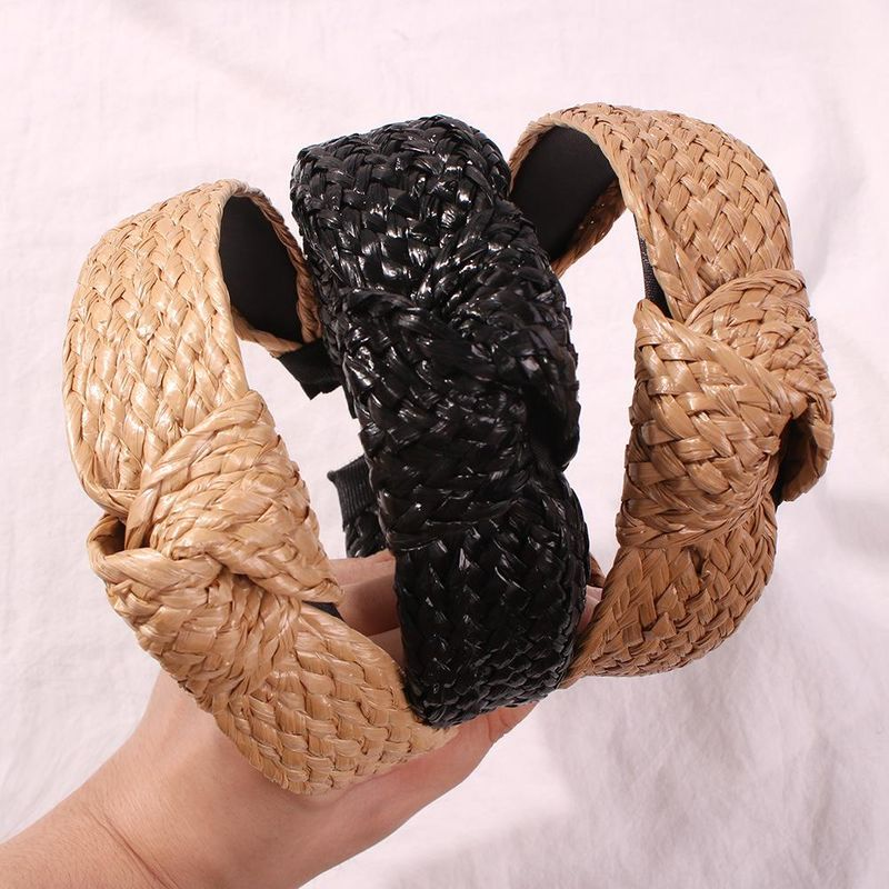 Womens U-shaped rattan classic Hair Band & Headbands NHMD146603