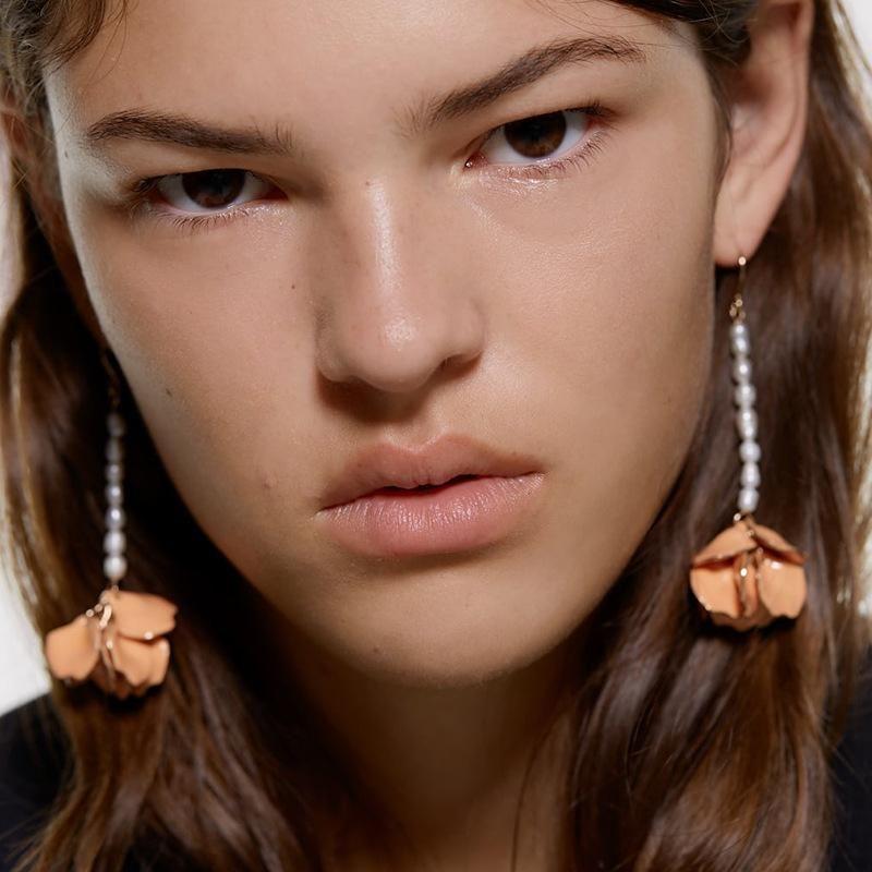 Fashion Alloy Petal Handmade Beads Earrings NHJQ146617