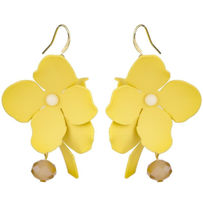 Fashion Phalaenopsis Floral Alloy Earrings NHKC146622