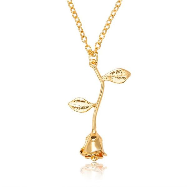 Collar de cadena de cobre rosa de moda chapado en oro NHCU146636