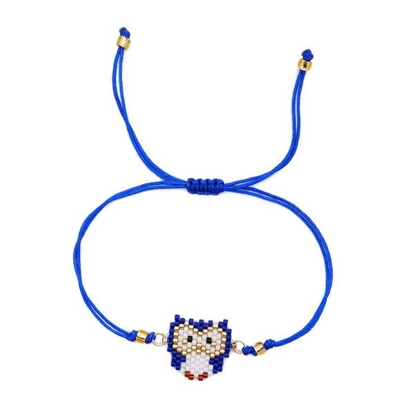 Simple owl animal weave bracelet NHGW146650