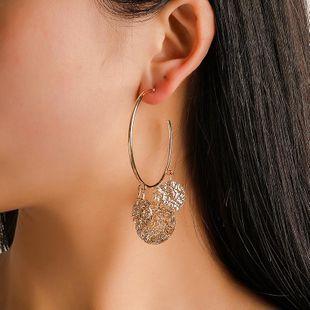 Womens Geometry Electroplated Metal Earrings NHCU146661's discount tags