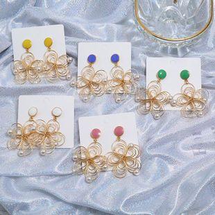 Vintage floral multicolor ladies earrings NHKQ146667's discount tags