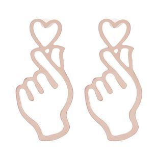 Womens Heart-Shaped Electroplating Alloy Earrings NHCU146669's discount tags