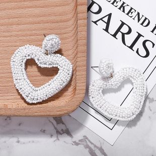 Womens Heart Shaped Beads Earrings NHJQ146677's discount tags