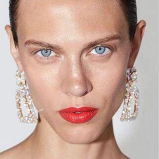 Wild trapezoidal geometric alloy rhinestone earrings NHMD146678's discount tags