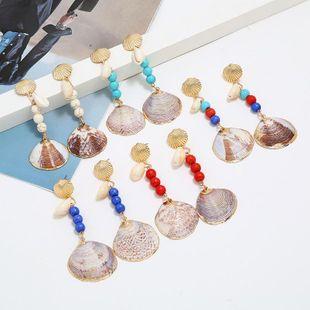 Seaside holiday alloyen shell alloy earrings NHKQ146685's discount tags