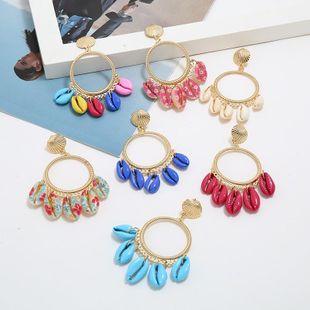 Fashion temperament circle ocean wind shell earrings NHKQ146700's discount tags