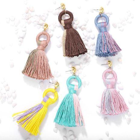 Womens Geometric Cloth Earrings NHJQ146704's discount tags