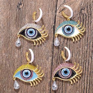 Creative Animal Tears Alloy Rhinestone Earrings NHJQ146705's discount tags