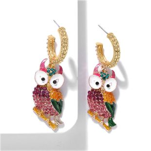 Fashion creative big eyes owl earrings NHJQ146709's discount tags