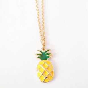 Cute dripping oil pineapple necklace NHCU146710's discount tags