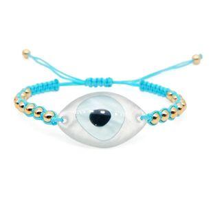 Europe and America Evil eye eyes Miyuki braided ladies bracelet NHGW146714's discount tags