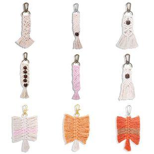 Fashion handmade tassel hanging keychain NHJQ146719's discount tags