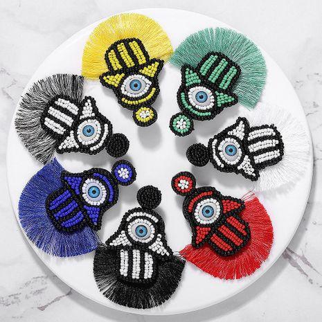 European and American magic eye rice beads tassel earrings NHJQ146720's discount tags