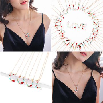 Fashion free combination couple LOVE necklace NHJQ146721