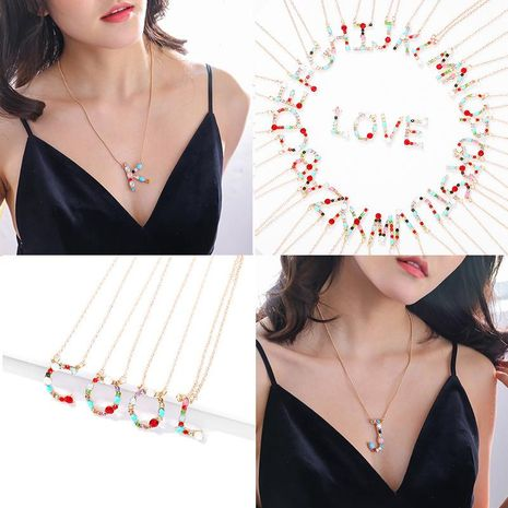 Fashion free combination couple LOVE necklace NHJQ146721's discount tags