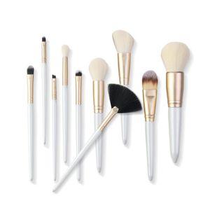 10 pics nylon bristle plastic makeup brushes NHDJ146741's discount tags