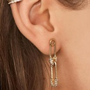 Creative personality paper clip pin studded alloy earrings NHMD146476