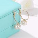 Vintage winding metal filament wire beads stud earrings NHCU146494