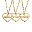 BEST FRIENDS good friend girlfriend necklace hollow love letter necklace NHCU146649
