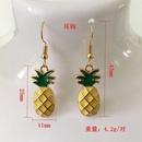 Ensemble de boucles d39oreilles collier pendentif ananas simple NHCU146656