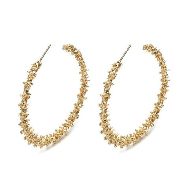 New simple alloy big hoop earrings alloy alloy NHPF146764