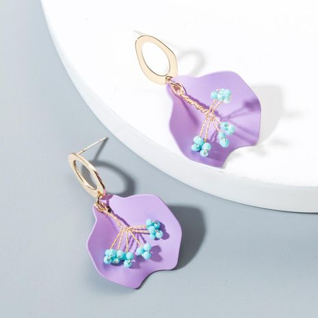 Cute sweet handmade beads flower earrings candy color NHLN146766's discount tags