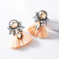 New Acrylic Rhinestone Stud Earrings NHJE146768