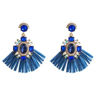 Vintage Rhinestone Colored Lafite Earrings NHJE146803's discount tags