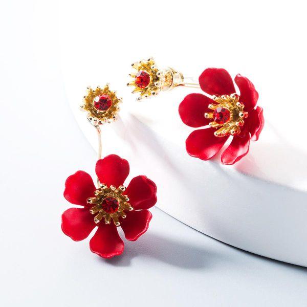 Fashion flower alloy earrings NHLN146814
