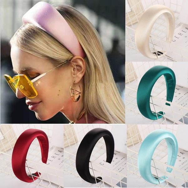 New fashion solid color alloy velvet sponge headband NHHV146891