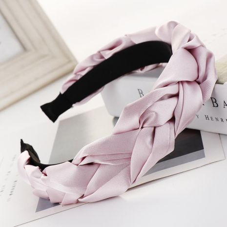 New solid color satin twist braid headband NHHV146894's discount tags