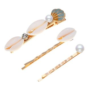 New color shell with beads hairpin hair clips NHPV146904's discount tags