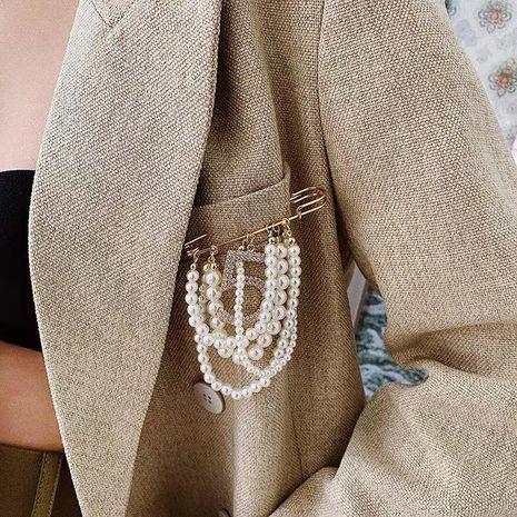 Fashion digital beads with rhinestone brooch NHYQ146950's discount tags