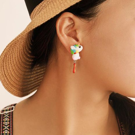 Womens Soft Ceramic Earrings NHGY146997's discount tags