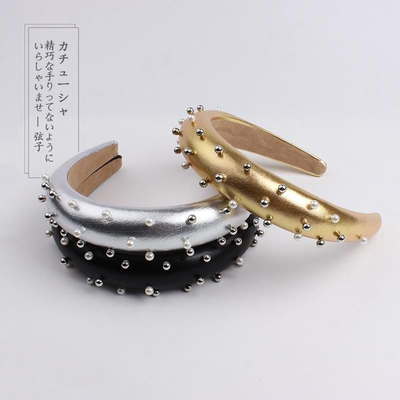 Widebrimmed fabric knit cross knotted headband NHOF146998