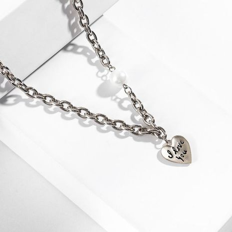 Fashion Love Beads Alloy Necklace NHLL147025's discount tags