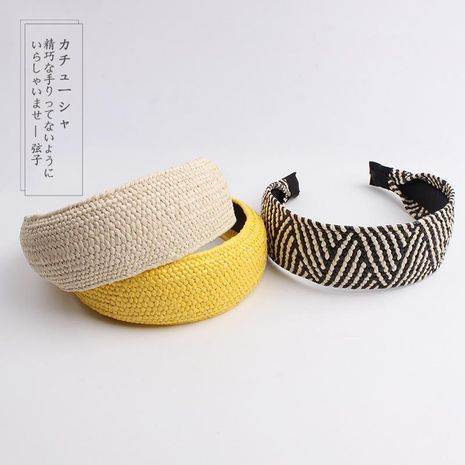 Fashion simple hand-woven grass holiday headband NHOF147097's discount tags