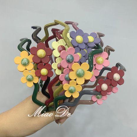 Cute candy-colored acrylic headband NHOF147154's discount tags