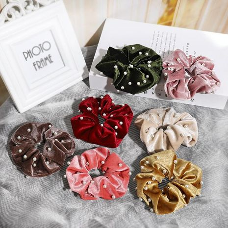 Alloy velvet fabric studded beads hair accessory NHOF147170's discount tags