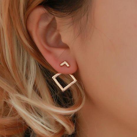 Minimal geometric hollow rhinestone stud earrings NHDP147176's discount tags