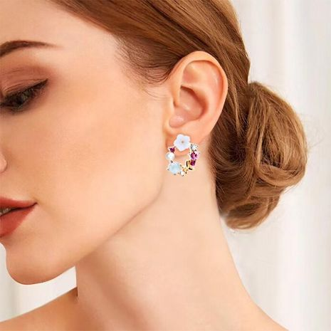 Sweet new beads bow garland stud earrings NHDP147186's discount tags