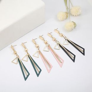 New hollow triangle alloy earrings NHPF147195's discount tags