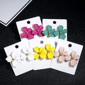 New simple sweet flowers stud earrings NHPF147196