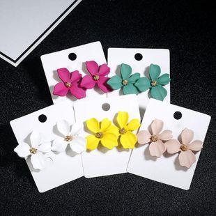 New simple sweet flowers stud earrings NHPF147196's discount tags