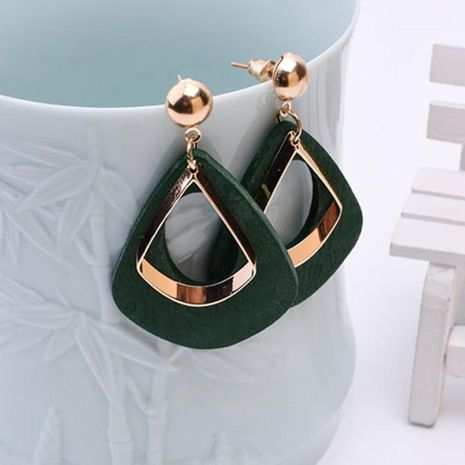 Simple and stylish wood long earrings NHPF147198's discount tags